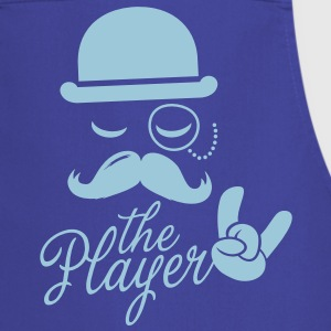 Fashionable retro gentleman player with moustache rock | olympics | football | Championship | victory  Aprons - Cooking Apron