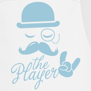 Fashionable retro gentleman player with moustache rock | sport| victory poker Fartuchy - Fartuch kuchenny