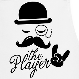 Fashion retro gentleman player met snor rock sport overwinning Bachelor in poker Kookschorten - Keukenschort