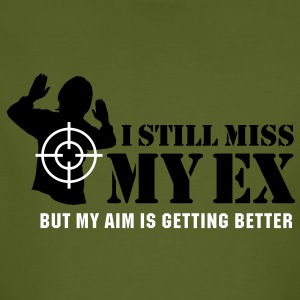 I still miss my ex, but my aim is getting better T-Shirts - Men's Organic T-shirt