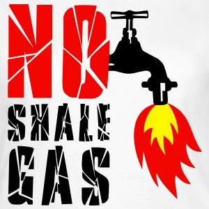 no_shale_gas_burning_water Tee shirts - T-shirt Femme