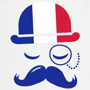 France fashionable retro iconic gentleman with flag | sports | olympics | football | Championship | Moustache  Aprons - Cooking Apron