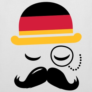 Germany fashionable retro iconic gentleman with flag and Moustache | sports | olympics | football |  Bags  - Tote Bag