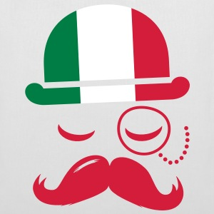 Italy fashionable retro iconic gentleman with flag and Moustache | sports | football Tasker - Mulepose