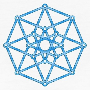 Hypercube 4D - TESSERACT - edge-first-shadow, c, Symbol - Dimensional Shift, Metatrons Cube, Ishtar Star Camisetas - Camiseta ecológica mujer