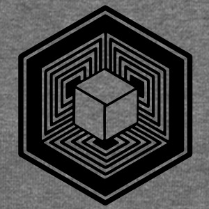 TESSERACT, Hypercube 4D, Crop Circle, 17th July 2010, Fosbury, Wiltshire, Symbol - Dimensional Shift Hoodies & Sweatshirts - Women's Boat Neck Long Sleeve Top
