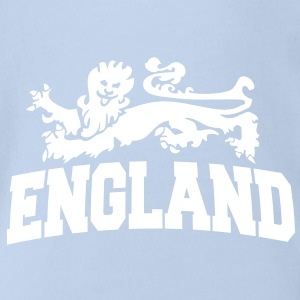 england with lion Baby Bodysuits - Organic Short-sleeved Baby Bodysuit