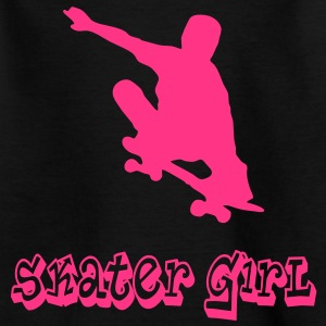 skater girl graffiti style Kinder T-Shirts - Teenager T-Shirt