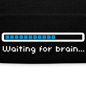 Waiting for brain (loading bar) / Funny humor Kepsar & mössor - Vintermössa