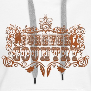 forever country Sweat-shirts - Sweat-shirt à capuche Premium pour femmes