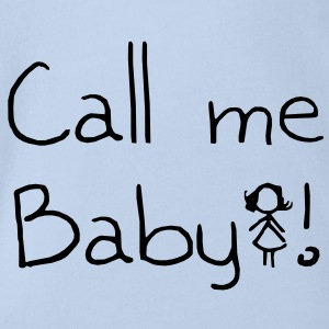 Call me Baby - Organic Short-sleeved Baby Bodysuit