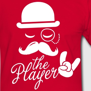 Fashionable retro gentleman player with moustache rock sport victory poker T-shirts - Kontrast-T-shirt herr