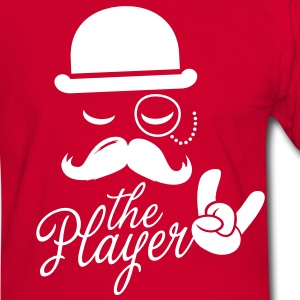 Fashionable retro gentleman player with moustache rock sport victory poker T-paidat - Miesten kontrastipaita