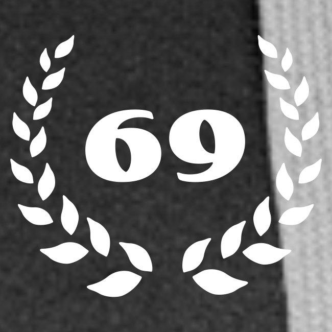 schw. Kapuzenjacke 69er mit Lobeerkranz