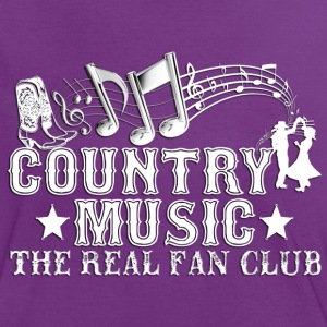 country music the real fan club T-Shirts - Women's Ringer T-Shirt