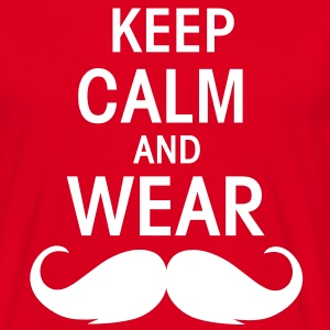 Keep calm an wear Moustache  - Männer T-Shirt