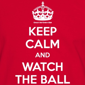 Keep Calm and Watch the Ball Men Red - Men's Ringer Shirt