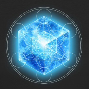 Metatrons Cube with TESSERACT, Hypercube 4D, digital, Symbol - Dimensional Shift,  Camisetas - Camiseta ecológica mujer