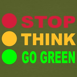 STOP - THINK - GO GREEN, 3c, eco, bio, geen,  T-Shirts - Men's Organic T-shirt