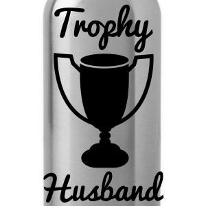 trophy husband with gold trophy Bottles & Mugs - Water Bottle