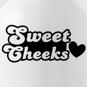 sweet cheeks with love heart (Great for pants!) Bottles & Mugs - Water Bottle