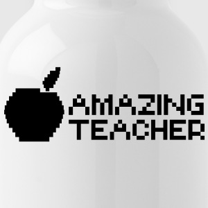 AMAZING computer TEACHER with apple in a digital  Bottles & Mugs - Water Bottle