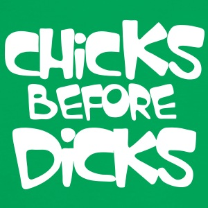 chicks before dicks T-Shirts - Women's Ringer T-Shirt