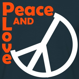 Peace and love bleu marine - T-shirt Homme