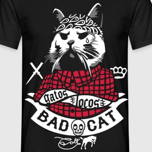 Sort Bad Cat - Gatos Locos T-shirts - Herre-T-shirt