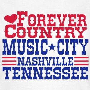 forever country music city nashville tennessee T-Shirts - Women's T-Shirt