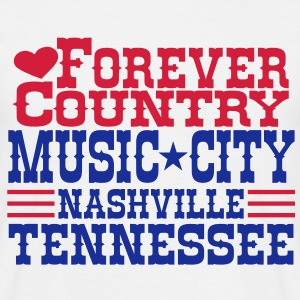 forever country music city nashville tennessee Tee shirts - T-shirt Homme