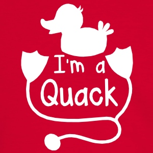 cute funny duck prints i'm a quack stethoscope T-Shirts - Men's Ringer Shirt