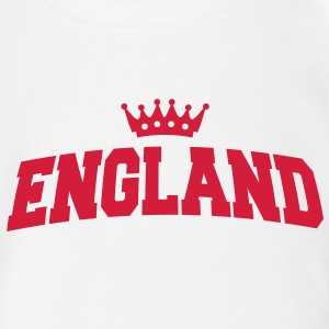england with crown Babybody - Økologisk kortermet baby-body
