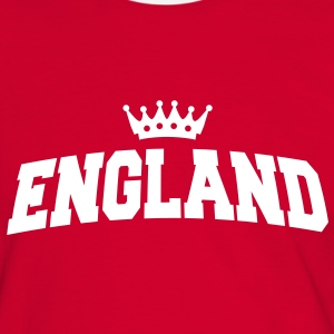england with crown T-Shirts - Männer Kontrast-T-Shirt