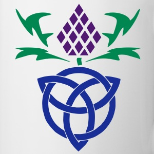 Celtic thistle 3 colour vector Gaelic design Bottles & Mugs - Mug