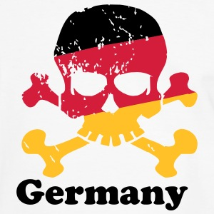German Flag Skull T-Shirts - Männer Kontrast-T-Shirt