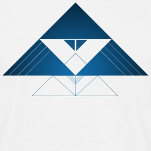 Blue Abstract Triangle  - T-shirt Homme