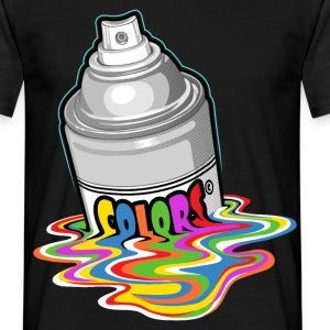 Melting paint spray - T-shirt Homme