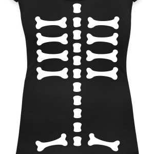 skeleton / rips  / bones / Body / human / SVG / can be combined with arm bones/ T-shirts - Vrouwen T-shirt met U-hals