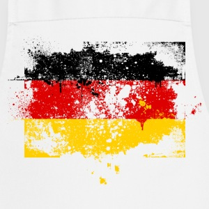Germany flag banner grunge graffiti style German pride football  Aprons - Cooking Apron