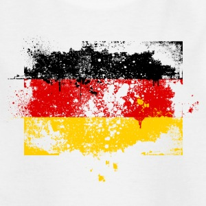 Germany flag banner grunge graffiti style German pride football Kids' Shirts - Teenage T-shirt