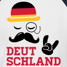 Germany fashionable gentleman championship victory gold football flag moustache T-Shirts