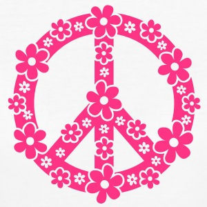PEACE SYMBOL - peace sign, c, symbol of freedom, flower power, hippie, 68er movement, Woodstock T-Shirts - Women's Organic T-shirt