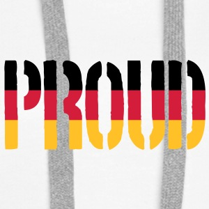 Proud Germany Flag, Proud to be German - Women's Premium Hoodie