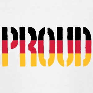 Proud Germany Flag, Proud to be German - Teenage T-shirt