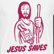 Ontwerp ~ Funny T-shirt Jesus saves.. Ctrl + S