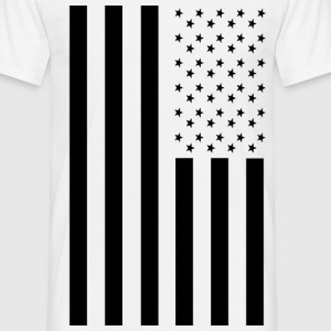 Blacked Out American Inspired Flag T-Shirts - Men's T-Shirt