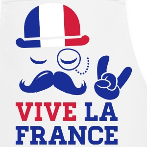 France mode vélo cyclisme championnat football tour or drapeau jaune moustache Tabliers - Tablier de cuisine