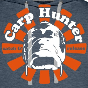 Vert Carp Hunter  Sweat-shirts - Sweat-shirt à capuche Premium pour hommes