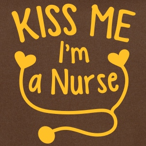 KISS ME I'm a NURSE with a love heart stethoscope  Bags  - Shoulder Bag